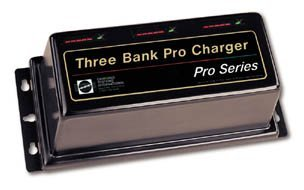 Dual Pro Battery Charger 15 Amps / 7.5 Amps per Bank, for 12V or 24V batteries
